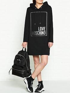 love-moschino-logo-box-hooded-dress-black