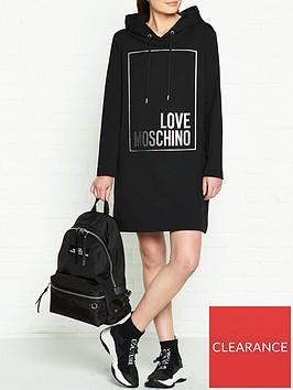 love-moschino-logo-box-hooded-dress-black