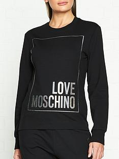 love-moschino-box-logo-sweatshirt--black