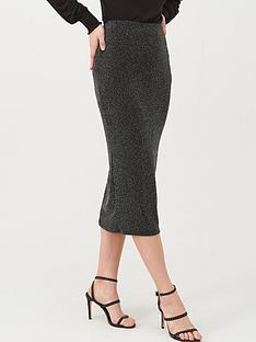 v-by-very-lurex-midi-skirt-black