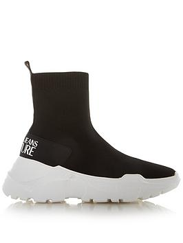 versace-jeans-couture-knitted-sock-trainers-black