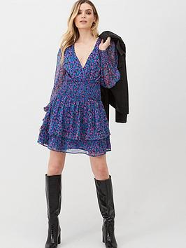 v-by-very-georgette-shirred-ruffle-dress-floral