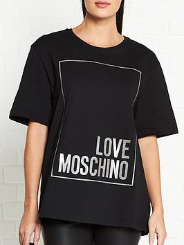 love-moschino-logo-box-t-shirt-black