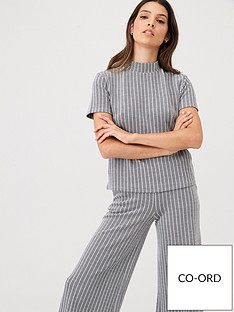 v-by-very-high-neck-jacquard-co-ord-top-grey