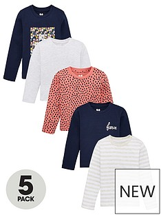 v-by-very-girls-5-pack-long-sleeve-printed-t-shirts-multi