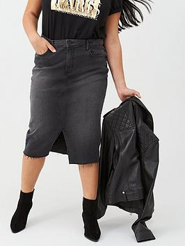v-by-very-curve-washed-denim-midi-skirt-black-wash