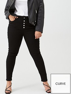v-by-very-curve-high-waisted-double-button-skinny-jean-black