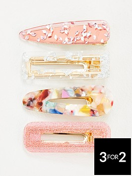 michelle-keegan-4-pack-mixed-resin-hair-clips-multi