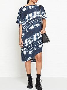 vivienne-westwood-anglomania-palm-tie-dye-print-drape-dress-navy