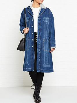 vivienne-westwood-anglomania-duster-denim-coat-blue