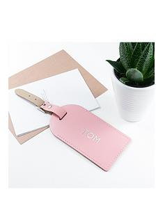 pink-foiled-leather-luggage-tag-personalised