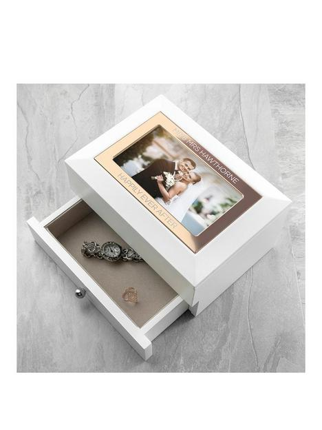 treat-republic-personalised-white-and-rose-gold-photo-jewellery-chest-with-drawer