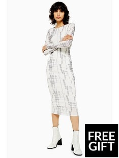 topshop-batik-mesh-midi-dress-multi