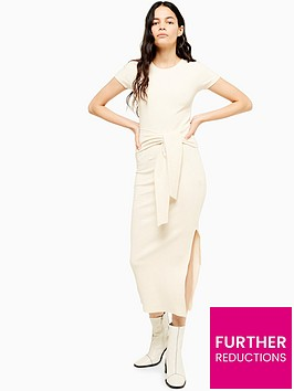 topshop-wide-belt-ribbed-column-dress-ecru