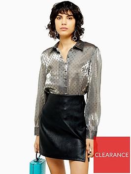 topshop-shimmer-satin-shirt-gunmetal