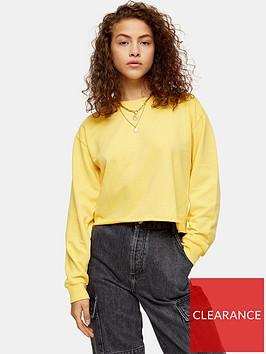 topshop-cropped-sweatshirt-mustard