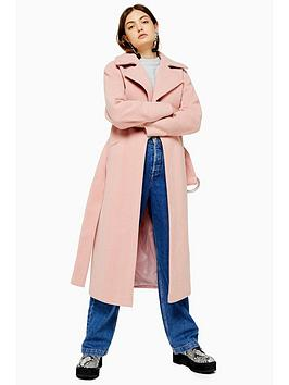 topshop-belted-trench-coat-pink