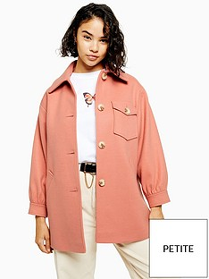 topshop-petite-cady-shacket-apricot