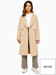 topshop-petite-cissie-double-breasted-coat-camel