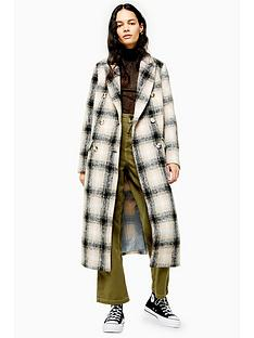 topshop-checked-trench-coat-multi