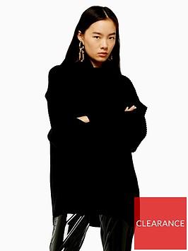 topshop-mixed-wool-roll-neck-jumper-black
