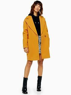 topshop-single-button-jacket-mustard