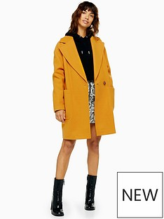 topshop-topshop-single-button-jacket-mustard