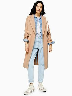 topshop-topshop-double-button-longline-coat-camel
