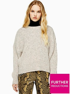 topshop-knitted-crew-neck-jumper-oat