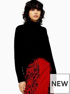 topshop-topshop-button-shoulder-detail-knitted-jumper-black
