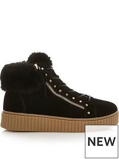 sofie-schnoor-silvia-faux-fur-hiker-trainers-black