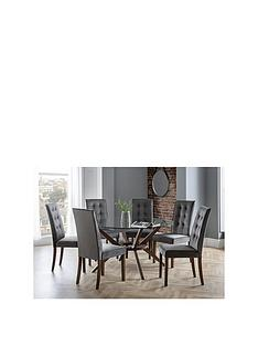 julian-bowen-chelsea-140-cm-round-glass-dining-table-6-madrid-chairs