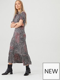 v-by-very-ruffled-high-neck-printed-dress-blackfloral