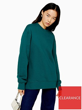 topshop-topshop-boyfriend-jersey-sweatshirt-green