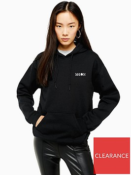 topshop-moon-mini-emblem-hoodie-black
