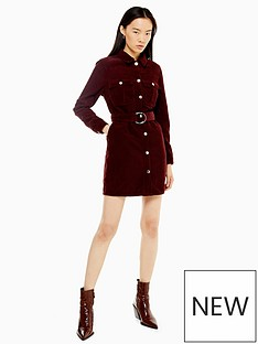 topshop-topshop-corduroy-button-mini-dress-burgundy