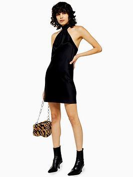 topshop-topshop-satin-halterneck-mini-dress-black