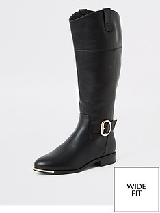 river-island-river-island-wide-fit-knee-high-riding-boot-black