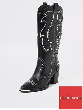river-island-river-island-knee-high-cowboy-boot-black