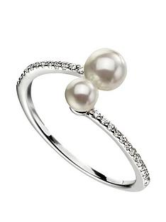 the-love-silver-collection-sterling-silver-double-pearl-ring-with-pave-set-shoulders