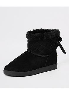 river-island-river-island-suede-quilted-faux-fur-lined-boot-black