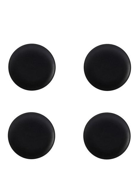 maxwell-williams-caviar-black-15-cm-coupe-plates-ndash-set-of-4