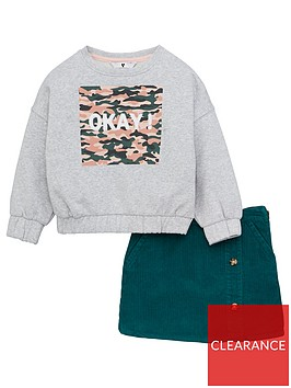 v-by-very-girls-2-piece-okay-sweatshirt-and-cord-skirt-set-multi