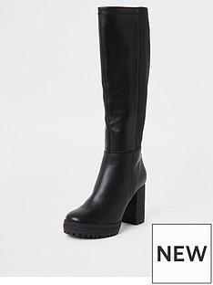 river-island-river-island-stretch-knee-high-boot-black