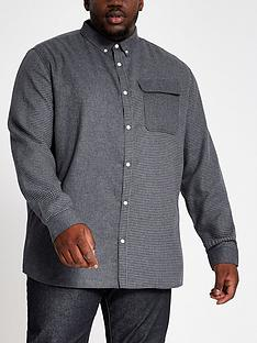 river-island-big-and-tall-grey-blocked-check-shirt