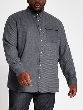 river-island-big-and-tall-grey-blocked-check-shirt