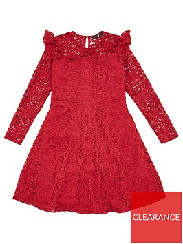 v-by-very-girls-ruffle-lace-skater-dress-berry
