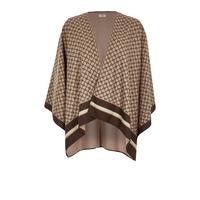 River Island Monogram Knitted Cape   Brown by River Island