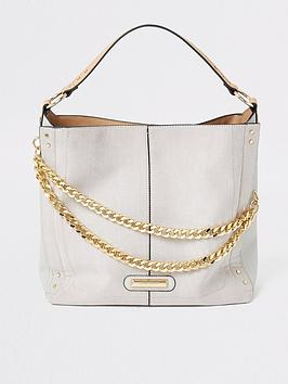 river-island-river-island-asymmetric-chain-slouch-bag-grey