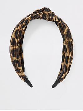 river-island-river-island-leopard-plisse-knot-alice-band